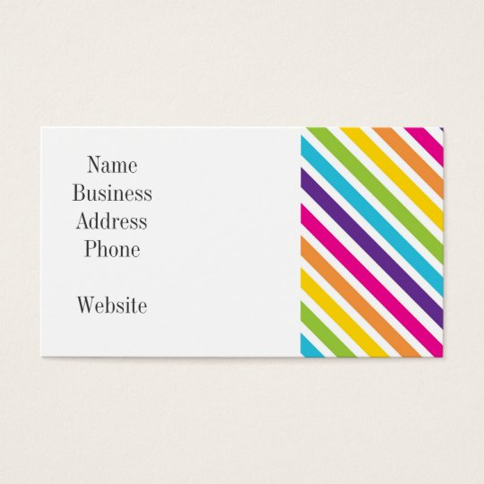 Colourful Rainbow Diagonal Stripes Gifts for Teens Business