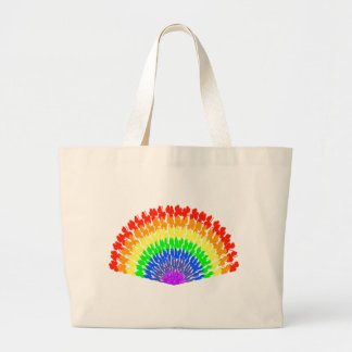 Colourful Rainbow Fan Tote Bags
