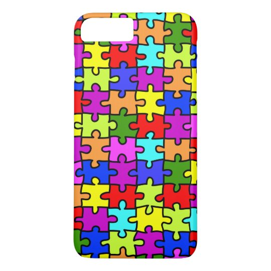 Colourful rainbow jigsaw puzzle pattern iPhone 8 plus/7