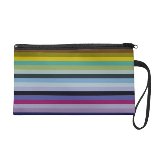 Colourful rainbow look fresh fun wristlet purses