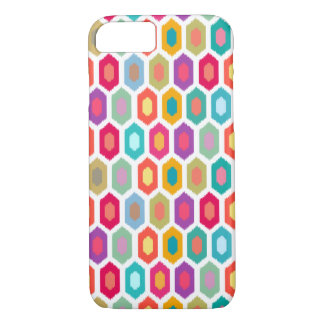 Colourful Rainbow Modern Ikat Pattern iPhone 8/7 Case
