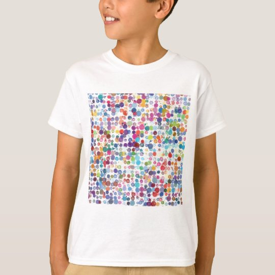 Colourful Rainbow Polka Dot Watercolor T-Shirt