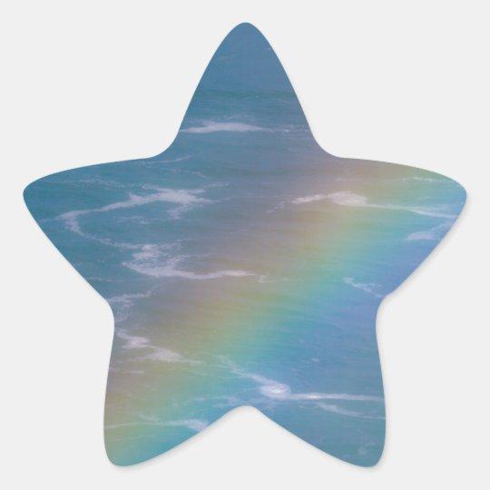 Colourful Rainbow Star Sticker