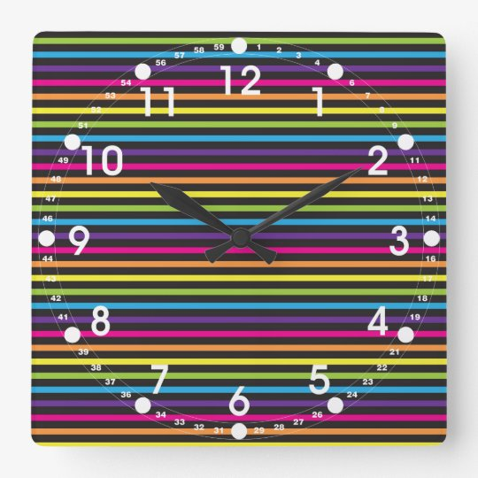 Colourful Rainbow Stripes Pattern Gifts for Teens Square