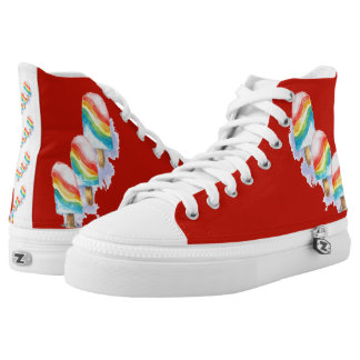 Colourful Rainbow Surprise Popsicle Printed Shoes