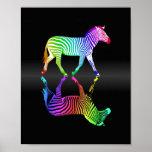 Colourful Rainbow Zebra Inversion
