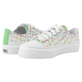 Colourful Random Lines Pattern Low Tops