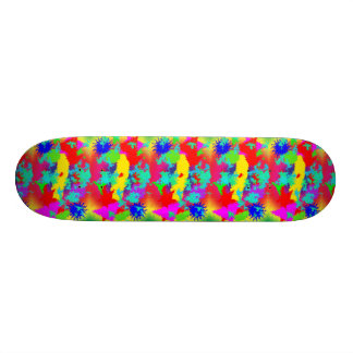 Colourful Random Trippy Pattern 21.6 Cm Skateboard Deck