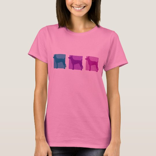Colourful Rat Terrier Silhouettes T-Shirt