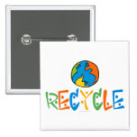 Colourful Recycle Buttons