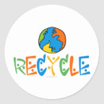 Colourful Recycle Round Sticker