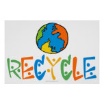 Colourful Recycling Poster