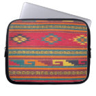 Colourful Red Aztec Pattern Laptop Sleeve