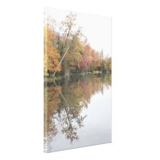 Colourful Reflection On The Water Canvas Print