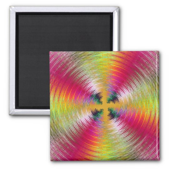 Colourful Reflection Square Magnet