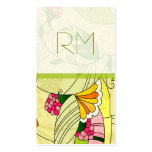 Colourful Retro Abstract Floral Collage Pack Of Standard Business Cards