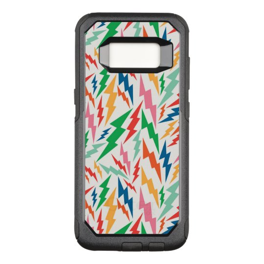 Colourful, Retro Bolt Pattern. OtterBox Commuter Samsung Galaxy S8 Case