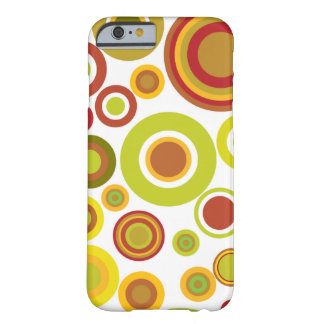 Colourful retro bubbles barely there iPhone 6 case