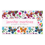 Colourful Retro Butterflies And Flowers Pattern