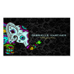 Colourful Retro Floral Elephant & Black Damasks 2 Pack Of Standard Business Cards
