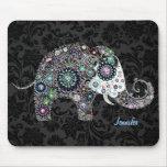Colourful Retro Floral Elephant & Diamonds 2