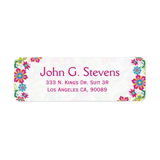 Colourful Retro Floral Frame