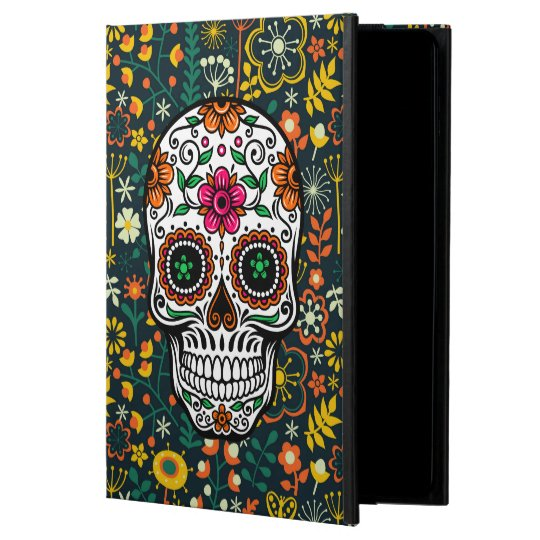 Colourful Retro Floral Sugar Skull Powis iPad Air