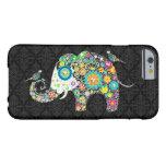 Colourful Retro Flower Elephant & Birds
