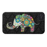 Colourful Retro Flower Elephant Design iPhone 4 Case-Mate Case