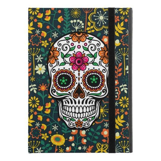 Colourful Retro Flowers & Sugar Skull iPad Pro