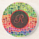 Colourful Retro Geometric Pattern-Monogram