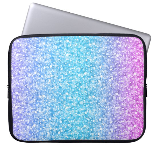 Colourful Retro Glitter And Sparkles Laptop Sleeve