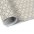 Colourful Retro Honeycomb Grid Pattern Wrapping Paper
