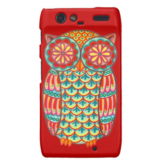 Colourful Retro Owl Motorola Droid RAZR Case