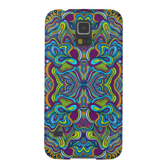 Colourful Retro Psychedelic Abstract Swirls Galaxy S5 Covers