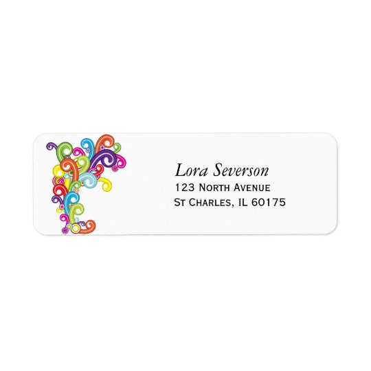 Colourful Return Address Labels