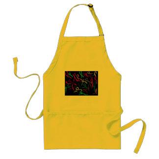 colourful ribbon standard apron