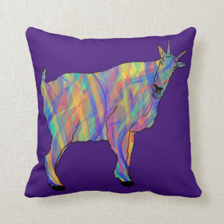 Colourful Ribbons Funny Goat Animal Art Design Cushion