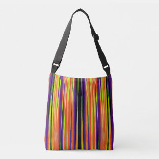 Colourful ripped paper pattern crossbody bag