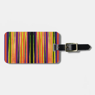 Colourful ripped paper pattern luggage tag