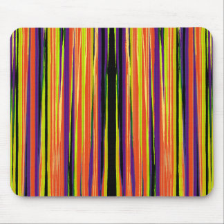 Colourful ripped paper pattern mouse mat
