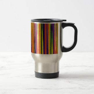 Colourful ripped paper pattern travel mug