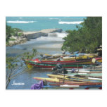 Colourful River Boats Negril Jamaica