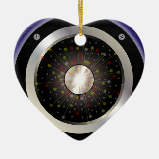 Colourful Rock Guitar Speaker Ceramic Heart Decoration