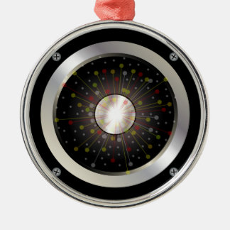 Colourful Rock Guitar Speaker Silver-Colored Round Decoration
