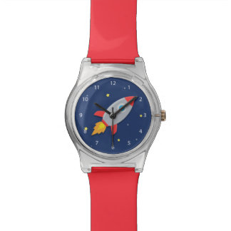 Colourful Rocket Ship, Outer Space, For Boys Wrist Watch