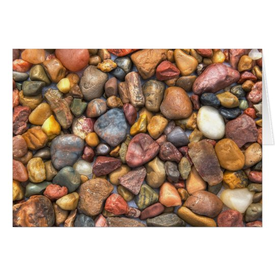 Colourful Rocks and Pebbles Card