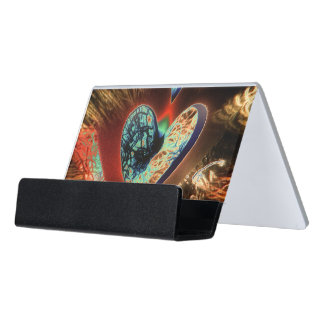 Colourful Romance Desk Business Card Holder