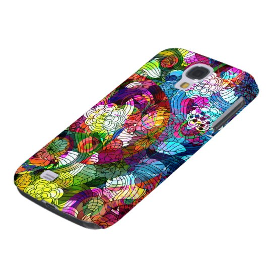 Colourful Romantic Vintage Floral Pattern Galaxy S4 Case