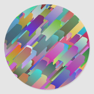 Colourful roof tiles round sticker